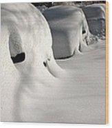 City Blizzard Wood Print