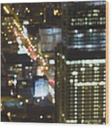 City Blur Wood Print