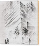 City Building Wood Print