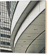 City Buildings Wood Print