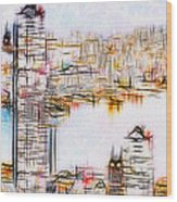 City By The Bay Wood Print