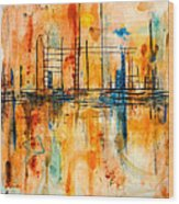 City By The Sea IIi Wood Print