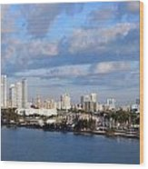 City By The Sea Wood Print