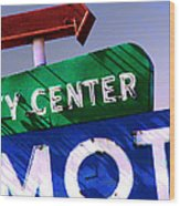 City Center Motel Wood Print by Gail Lawnicki