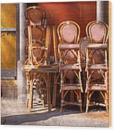 City - Chairs - Red Wood Print
