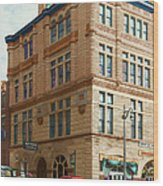 City - Chattanooga Tn - 1943 - The Masonic Temple Wood Print by Mike Savad