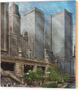 City - Chicago Il - Continuing A Legacy Wood Print