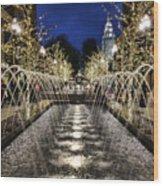 City Creek Fountain - 2 Wood Print
