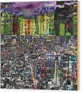 City Dawn Art Cityscape  Wood Print