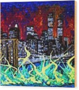 City Escape By Darryl Kravitz Wood Print