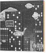 City Fish Edit 3 Wood Print