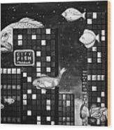 City Fish Edit 4 Wood Print