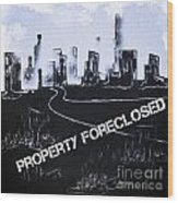City For Sale Wood Print