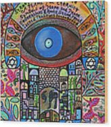 City Garden Hamsa Wood Print