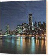 City Glares Wood Print