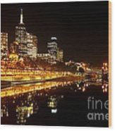 City Glow Wood Print