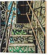 City Grunge Wood Print