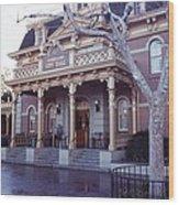 City Hall At Disneyland Wood Print