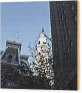 City Hall At Market Street Wood Print