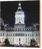 City Hall Wood Print