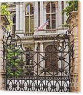 City Hall Gate Wood Print