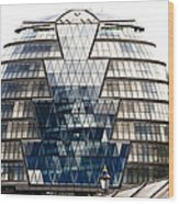 City Hall London Wood Print by Christi Kraft