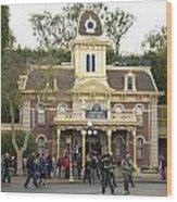 City Hall Main Street Disneyland Wood Print