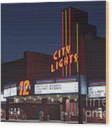 City Lights After Dark Wood Print