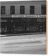 City Lights Booksellers Wood Print