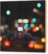 City Lights  Wood Print by John Farnan