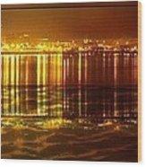 City Lights Peoria Il Wood Print