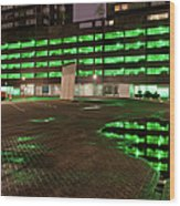 City Lights Urban Abstract Wood Print