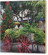 City Market At Christmas Wood Print