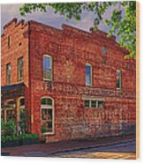 City Market At Savannah Wood Print