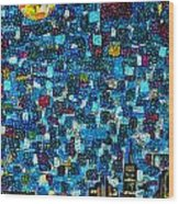 City Mosaic Wood Print