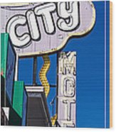 City Motel Las Vegas Wood Print