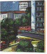 City Wood Print