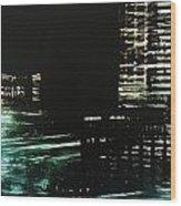 City Negative Wood Print