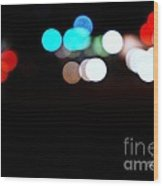 City Night Lights Wood Print
