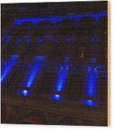 City Night Walks - Blue Highlights Facade Wood Print