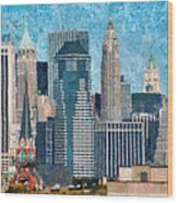 City - Ny - A Touch Of The City Wood Print