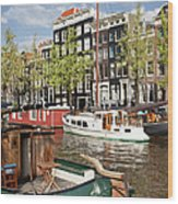 City Of Amsterdam Wood Print