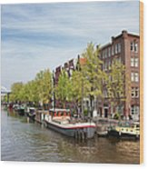 City Of Amsterdam In The Netherlands Wood Print