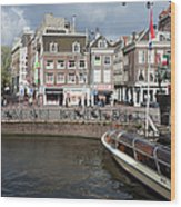 City Of Amsterdam Urban Scenery Wood Print