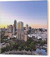 City Of Austin Texas Wood Print