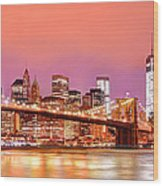 City Of Lights Wood Print