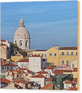 City Of Lisbon In Portugal Wood Print