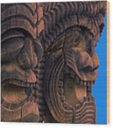 City Of Refuge Tiki Gods Wood Print