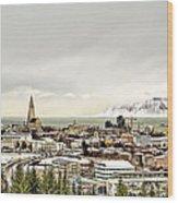 City Of Reykjavik  Wood Print