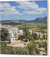 City Of Ronda In Spain Wood Print